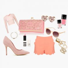 What do you think about this girly pinky look styled by Illy, one of Wishi users? Want ideas on what to wear for upcoming events? Joins us at www.wishi.me and you'll get styled online for free by other users!