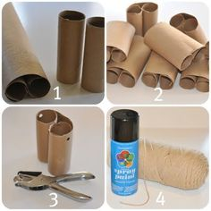 binoculars- wrapping paper rolls 2 cut / glue to make several sets 3 punch hole for string