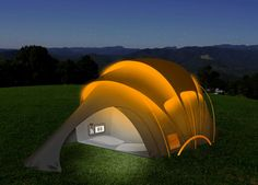 Solar Powered Tent   Cool Solar Powered Inventions