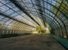 Auteuil Greenhouses in the Bois de Boulogne, Paris : important cast iron greenhouses painted in turquoise, built by the French architect Jean-Camille Formigé in 1898 Pré Catelan, Conservatory Design, Crystal Palace, World's Fair, Civil Engineering, Water Features, 18th Century, France, Louvre