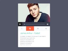 Music widget - Inspiration PSD [GIF] by Pierre Borodin