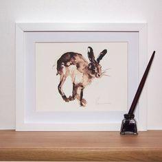 Running Hare Print And Original