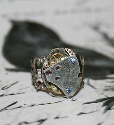 Steampunk Ring  Handmade Ring From Vintage by Take2GiveOneLove, $19.95