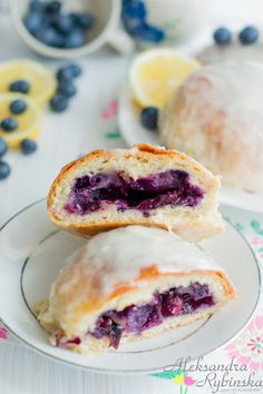 Jagodzianki: Polish Sweet Buns with Blueberries (1) From: Alexandra's Recipes, please visit