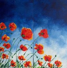 love these poppy paintings by a friend's wife...she's amazing.