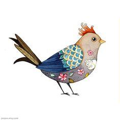 Bird by+joojoo+on+Etsy