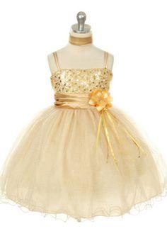 603ddf840 Gardenia - Butternut Gold Glitter Pageant Dresslittle girls $54 Gold Flower  Girl Dresses, Toddler Flower