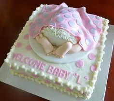 Baby bottom baby shower cake By: Cheryl's Home Kitchen. Find us on FaceBook!