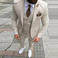 Custom Made Men Wedding Suit Prom Tuxedo Slim Fit 3 Piece Groom Wear Blazer Custom Made Men Wedding Suit Prom Tuxedo Slim Fit 3 Piece Groom Wear Blazer 36 Groom Suit That Express Your Unique Styles and…Boho Wedding Dresses custom madeTHE DROP Dress Suits For Men, Suit And Tie, Men Dress, Prom Suits For Guys, Tan Prom Suits, Tan Suit Men, Funky Prom Suits, Suit For Man, Taxido Suit