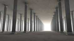 I like the use of many columns and the eerie feel this scene has. I could also make some columns different sizes on set, so it looks like the distance is greater and that they are getting smaller.