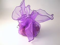 Purple Organza Wedding Favour Bags 10PK    These organza favour bags are great for DIY wedding favours or for wrapping wedding cake. Make they work hard as a key feature in your wedding table decor!