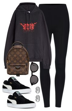 """Untitled #4166"" by magsmccray on Polyvore featuring Vetements, Louis Vuitton, Puma, Thierry Lasry and Gucci"