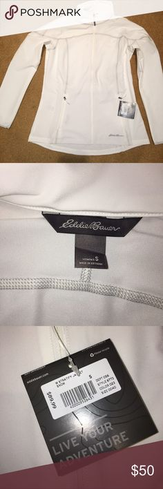 Eddie Bauer White Stratify Jacket Women's small, white jacket. Brand new, with tags, never been worn. Good Price! Eddie Bauer Jackets & Coats