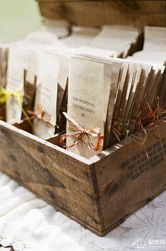 rustic wedding ceremony program ideas