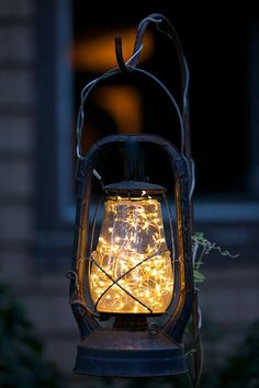 solar lantern out of old lamp