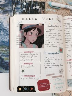 first bullet journal spread of july ft a map of London because I'm planning our trip✨🍓 {clik for hq} Bullet Journal Notes, Bullet Journal Aesthetic, Bullet Journal Writing, Bullet Journal Spread, Bullet Journal Ideas Pages, Bullet Journal Inspiration, Journal Pages, Journals, Scrapbook Journal