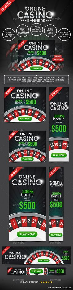 Casino Web Banner Design Template PSD | Buy and Download: http://graphicriver.net/item/casino-web-banner-design/8923790?WT.ac=category_thumb&WT.z_author=doto&ref=ksioks