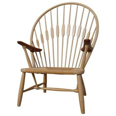 Ash and Teak Peacock Chair by Hans Wegner for Johannes Hansen