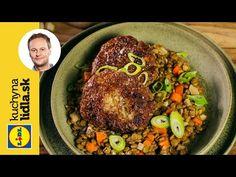 Šošovicový prívarok s fašírkou | Marcel Ihnačák | Kuchyňa Lidla - YouTube Marcel, Grains, Rice, Beef, Youtube, Food, Meat, Essen, Meals