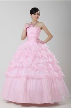 Ball Gown Pleated Lovely Pleated Floral Wedding Dress      $166.66