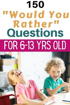 Fun Questions For Kids, Would You Rather Questions, Funny Questions, Would You Rather Kids, Learning Activities, Kids Learning, Activities For Kids, Jokes For Kids, Kid Jokes