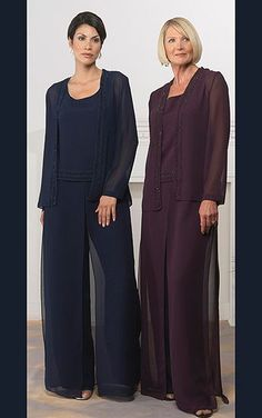 Aliexpress.com : Buy Chiffon Mother Of The Bride Pant Suits Plus ...
