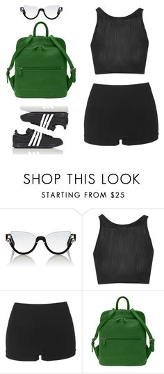 """Sem título #13"" by heyheyhooo ❤ liked on Polyvore featuring Fendi, Topshop and adidas"