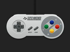 SNES Controller - 1 icon by Sam Steele #icon #design #free #download #freebie