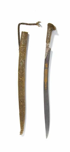 Damascus Steel Sword, Native American Clothing, Swords And Daggers, The Saleroom, Arm Armor, Silent Auction, Knives, Weapons, Gun