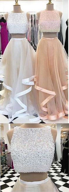 Two-piece prom dress, prom dress, prom dresses, charming prom dresses, long word – rnrnSource by Cute Prom Dresses, Grad Dresses, Dance Dresses, 15 Dresses, Pretty Dresses, Beautiful Dresses, Homecoming Dresses, Evening Dresses, Fashion Dresses