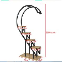 The living room household use pattern rack multilayer indoor special price balcony iron work circular buy content rack adornment - AliExpress Modern Plant Stand, Wood Plant Stand, Garden Shelves, Plant Shelves, Wooden Pallet Furniture, Metal Furniture, House Plants Decor, Plant Decor, Art Fer