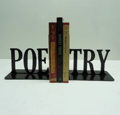 Poetry bookends by KnobCreekMetalArts