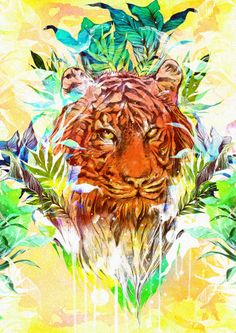 Into The Wild by Daryl Feril, via Behance.I don't know why but i've always liked tigers so this really appeals to me.