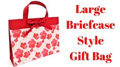 Large Briefcase Style Gift Bag