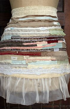 Fabric strip apron by Rebecca Sower . . . would love to make this . . . i think it's dreamy :) . . .