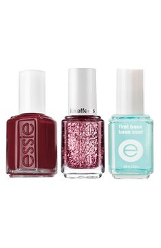 essie® 'Razzle Dazzle Manicure - Red' Nail Trio | Nordstrom
