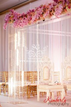 Suhaag Garden, Florida Indian wedding decorator, event design, event decor, Tampa Marriott Waterside Hotel & Marina, modern Mandap, stage, glass mandap