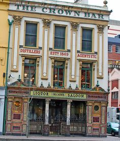 I'll have my first Guiness there   The Crown Bar in Belfast   The-Crown-Bar by Dr Joolz, via Flickr