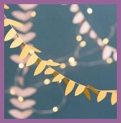 Ideas Craft Paper Banner Fun For 2019 – Diy Garland 2020 Fun Crafts, Diy And Crafts, Paper Crafts, Paper Banners, Paper Garlands, Paper Bunting, Papier Diy, Party Fiesta, Leaf Garland