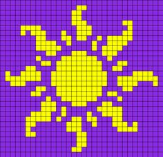 Sun_from_Tangled by Nicky on Kandi Patterns