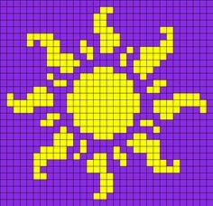 Sun_from_Tangled by Nicky on Kandi Patterns