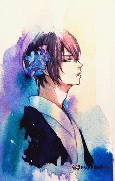 高杉晋助 Manga Art, Manga Anime, Anime Art, Daily Drawing, Anime Films, Pretty Pictures, Akira, Anime Guys, Watercolor