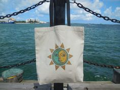 Celestial  Sun Moon Tote Bag  Large Sturdy by TheUrbanGypsyShop