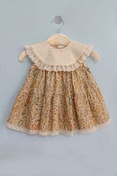 Creamy Dress-Baby Dress - March 02 2019 at Frock Design, Baby Dress Design, Baby Girl Dress Patterns, Dresses Kids Girl, Baby Outfits, Little Girl Outfits, Toddler Outfits, Kids Outfits, Baby Girl Frocks