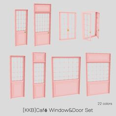 Cafe Window, Open Window, Sims Building, Door Sets, Sims 4 Cc Finds, Sims 4 Mods, Windows And Doors, Gallery Wall, Floor Plans