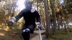森の中を駆け抜けるインラインスケートをプレイヤー目線で撮影 - http://naniomo.com/archives/2639