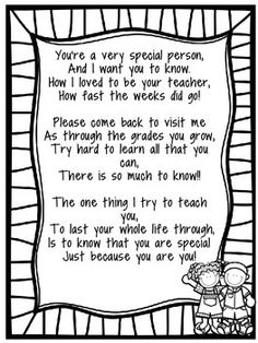 End of the Year Poem to Students! by Hillary Kiser | Teachers Pay Teachers