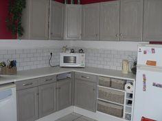 Home staging et relooking d 39 une cuisine en ch ne rustique - Cuisine en chene repeinte ...
