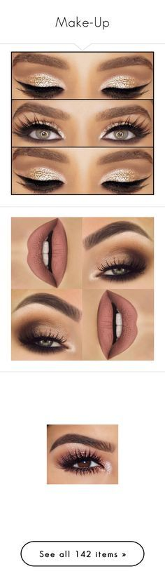"""Make-Up"" by jo-ellehadi ❤ liked on Polyvore featuring beauty products, makeup, eye makeup, eyes, lips, beauty, hair and makeup, nail care, eye brow makeup and eyebrow makeup"
