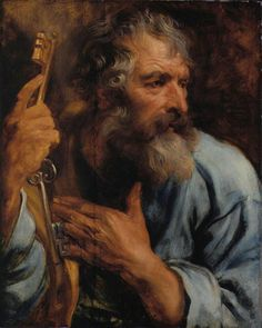 Saint Peter, Sir Anthony van Dyck, Born: Mar 22, 1599 · Antwerp, Belgium Died: Dec 09, 1641 · London, England